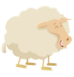 Cartoon sheep farm animal vector