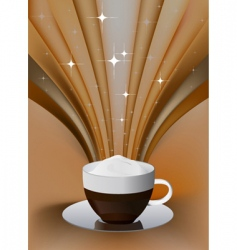 coffee exposure vector image vector image