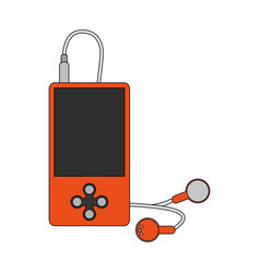Color image cartoon portable music device with vector