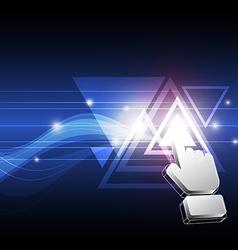 cursor click triangle button vector image vector image