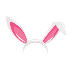 easter bunny ears mask vector image vector image