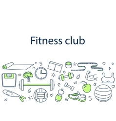 Fitness club banner vector image vector image