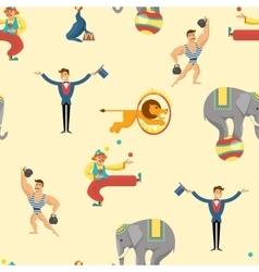 Flat Circus Pattern vector image