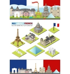 France travel famous landmarks paris vector