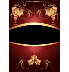 Golden vine ornament vector image vector image