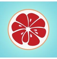 Grapefruit stylish icon retro juicy fruit logo vector