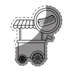 Hot dog car icon vector