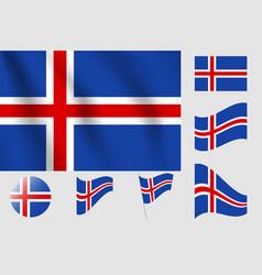 Iceland flag realistic flag national symbol design vector