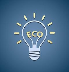 Icon bulb ecological symbol vector