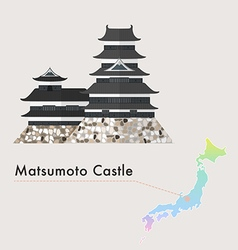Japan castle matsumoto vector