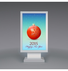 Lightbox with christmas ball vector