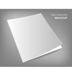 magazine mockup on grey background vector image vector image