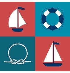 Marine symbol Nautical design elements vector image vector image