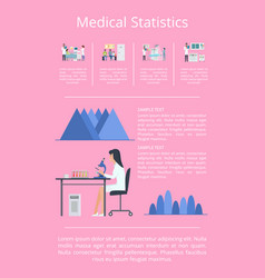 medical statistics researches vector image vector image