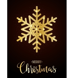 Merry christmas gold glittering design vector