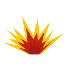 Nuclear explosion icon isolated vector