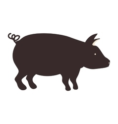 Pig animal icon vector