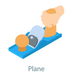 plane tool icon isometric 3d style vector image