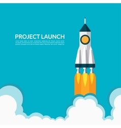 Project launch start up concept vector