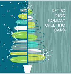 retro abstract christmas tree design vector image vector image