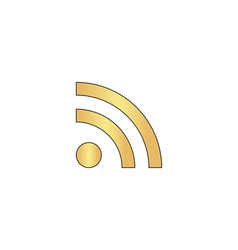 RSS computer symbol vector image
