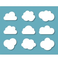 Set of Cloud Shaped Frames vector image vector image