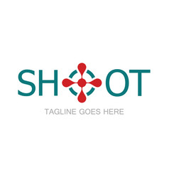 shoot simple logo vector image vector image
