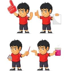 Soccer boy customizable mascot 5 vector