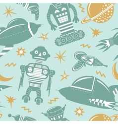 Space invaders background vector