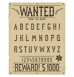 Western style font vector