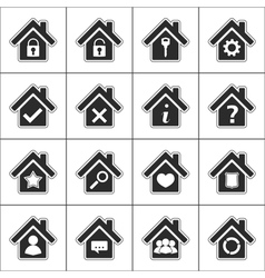 Icons with a house vector image