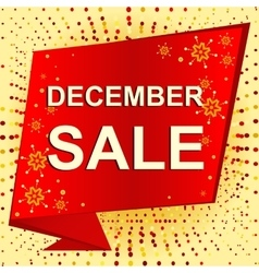 Big winter sale poster with decembe sale text vector