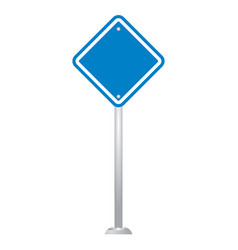 Blank road sign board vector