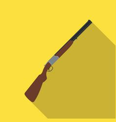 hunting rifleafrican safari single icon in flat vector image