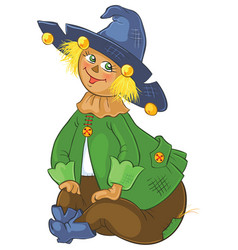 Scarecrow wizard of oz cartoon vector