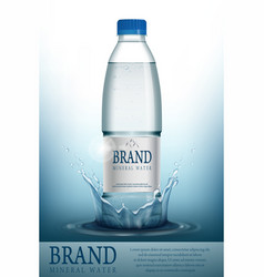 mineral water realistic bottle container mockup vector image