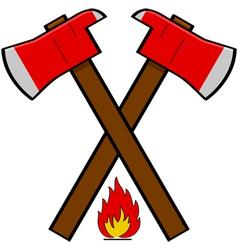 Fireman axe vector