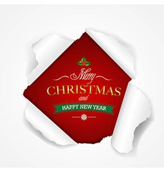 Happy christmas poster vector