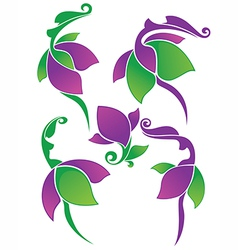 Spring floral beauty vector