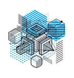 3d abstract isometric background layout of cubes vector image vector image