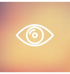 Eye thin line icon vector