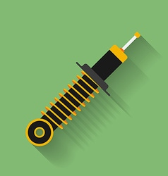Icon of car shock absorber with spring flat style vector