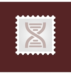 Dna medical stamp vector
