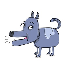 Funny blue doggy vector