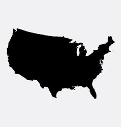 The united states of America map silhouette vector image