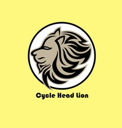 Cycle lion logo vector