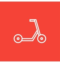 Kick scooter line icon vector
