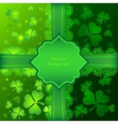 Green Saint Patricks Day greeting card vector image