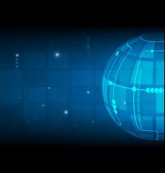 abstract global circle digital technology vector image vector image