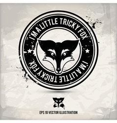 alternative fox stamp vector image